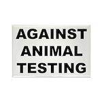 Against Animal Testing Rectangle Magnet (100 pack)