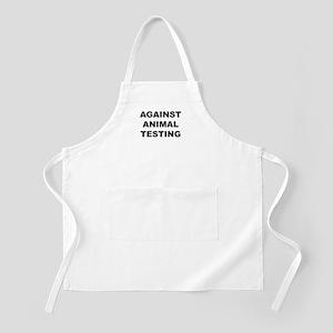 Against Animal Testing BBQ Apron