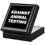 Against Animal Testing Keepsake Box