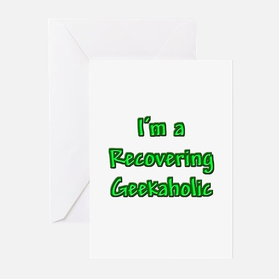 Recovering Geekaholic Greeting Cards (Pk of 10