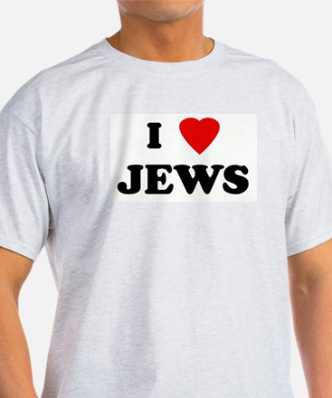 I Love JEWS Ash Grey T-Shirt