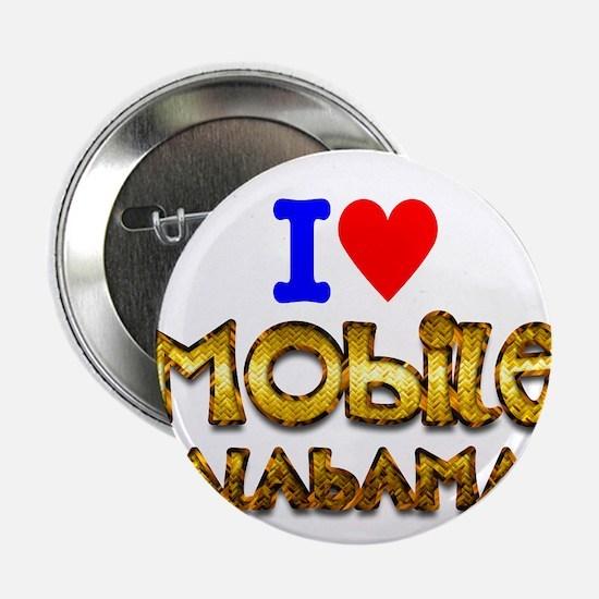 "I Love Mobile Alabama 2 2.25"" Button (10 pack)"