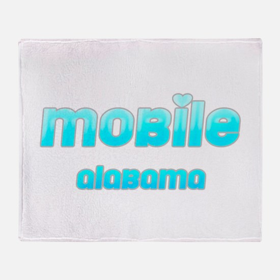 Mobile, Alabama 1 Throw Blanket