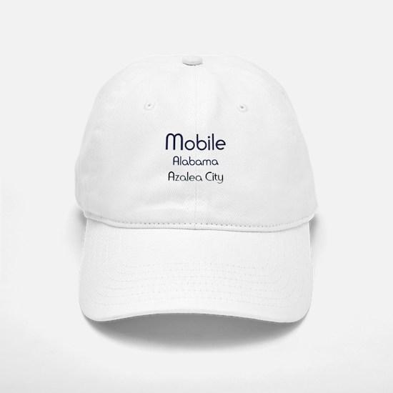 Mobile, Alabama - Azalea City 1 Baseball Baseball Baseball Cap