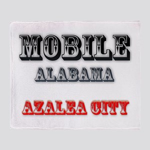 Mobile Alabama Azalea City 2 Throw Blanket