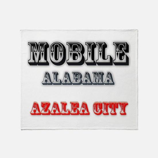 Mobile Alabama Azalea City 2 Throw Blanket