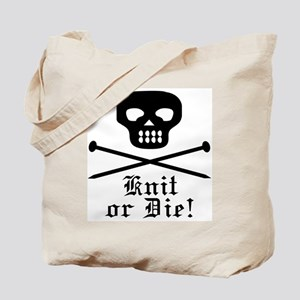 Knit or Die! Tote Bag