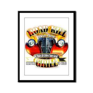 """""""Road Kill Grill!"""" Framed Panel Print"""