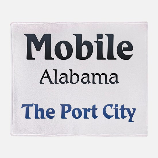 Mobile, Alabama - The Port City Throw Blanket