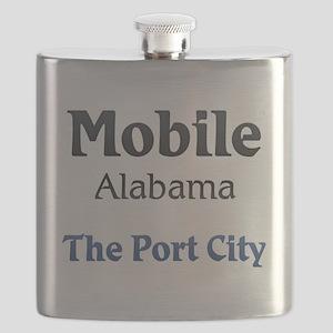 Mobile, Alabama - The Port City Flask