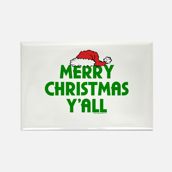 Merry Christmas Y'all Rectangle Magnet