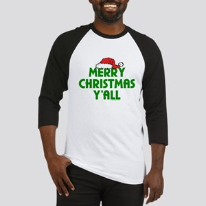 Merry Christmas Y'all Baseball Jersey