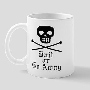 Knit or Go Away Mug
