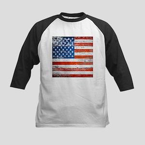 Primitive barnwood American Flag Baseball Jersey
