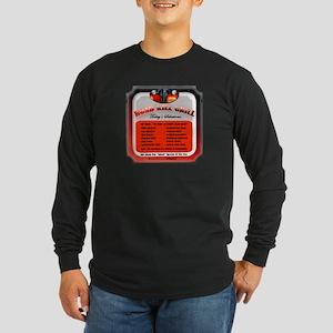 """""""Road Kill Menu!"""" Long Sleeve Dark T-Shirt"""
