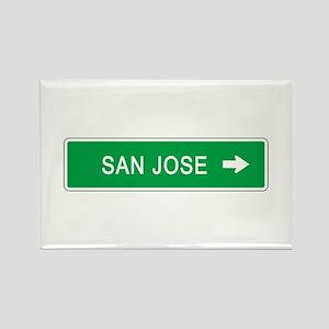 Roadmarker San Jose (CA) Rectangle Magnet