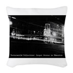 Hotel Selkirk (Night) Woven Throw Pillow