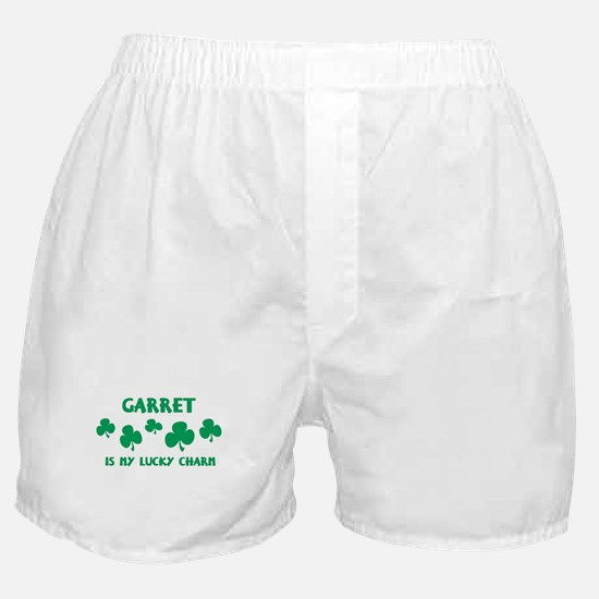 Garret is my lucky charm Boxer Shorts