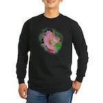 Camellia Japonica Long Sleeve Dark T-Shirt