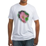 Camellia Japonica Fitted T-Shirt