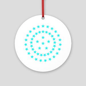 Cyan Starfield Ornament (Round)