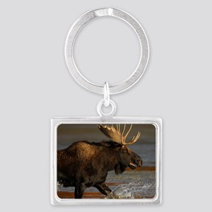 Bull Moose Landscape Keychain