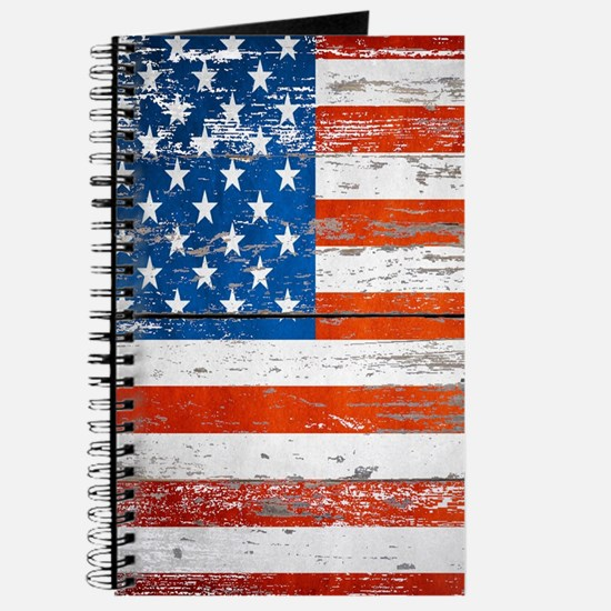 Primitive barnwood American Flag Journal