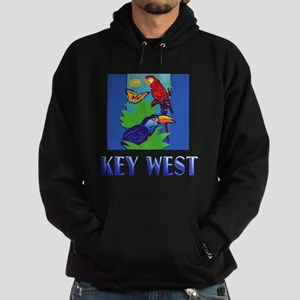 Macaw, Parrot, Butterfly, Jungle KEY WEST Hoodie