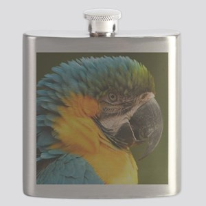 macaw, yellow and gold Flask