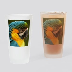 macaw, yellow and gold Drinking Glass
