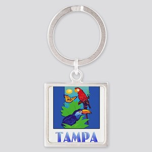 Macaw, Parrot, Butterfly, Jungle TAMPA Keychains