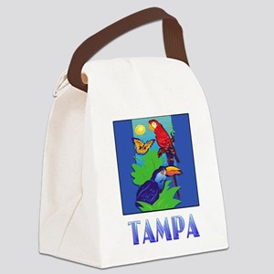 Macaw, Parrot, Butterfly, Jungle TAMPA Canvas Lunc