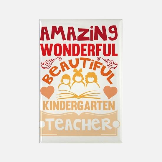Cute Kindergarten teacher Rectangle Magnet