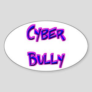 Cyber Bully Oval Sticker
