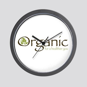 Organic for a healthier you Wall Clock
