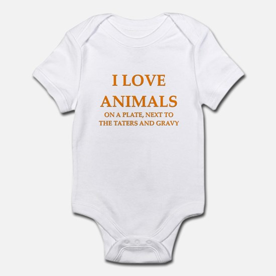 i love animals Infant Bodysuit