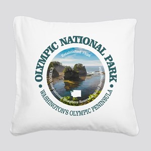 Olympic National Park Square Canvas Pillow