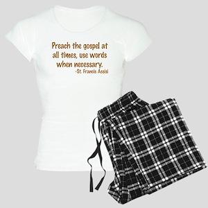PreachTheGospelWordsBrownText1 Pajamas