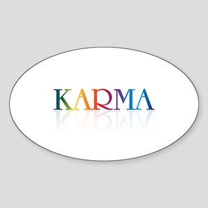 KARMA - Oval Sticker