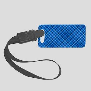 Blue Tartan Small Luggage Tag