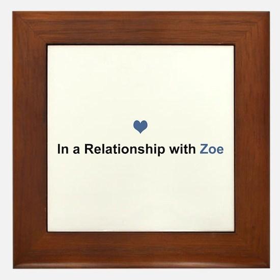 Zoe Relationship Framed Tile