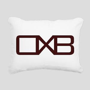 OXB Initial Rectangular Canvas Pillow