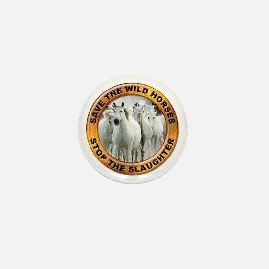 Save Wild Horses Mini Button