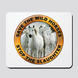 Save Wild Horses Mousepad