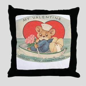 Sailor Bear Valentines Throw Pillow