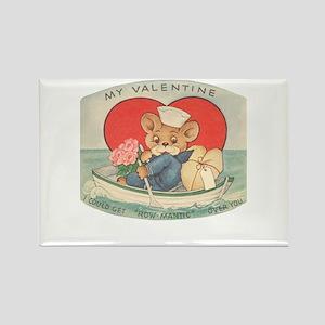 Sailor Bear Valentines Rectangle Magnet