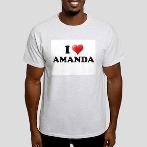 I LOVE AMANDA SHIRT T-SHIRT A Ash Grey T-Shirt