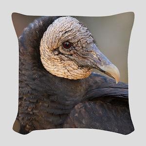 black vulture Woven Throw Pillow
