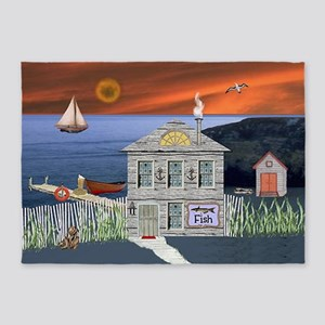 Fishermans Cottage 5'x7'Area Rug
