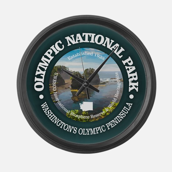 Olympic National Park Large Wall Clock